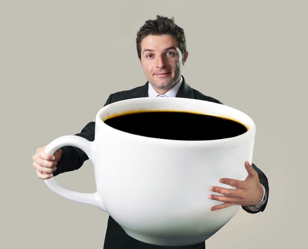 A rather large cup of coffee