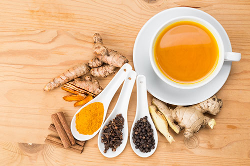 Healthy turmeric tea